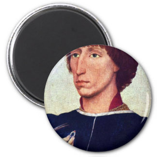 Portrait Of Francesco D'Este By Weyden Rogier 2 Inch Round Magnet