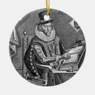 Portrait of Francis Bacon (1561-1626) Viscount of Ceramic Ornament