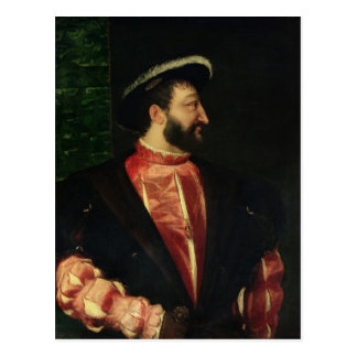 Portrait of Francis I  1538 Postcard