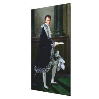 Portrait of Francois-Nicolas Mollien  1806 Gallery Wrap Canvas