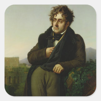 Portrait of Francois Rene  Vicomte Square Sticker