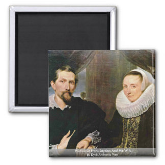 Portrait Of Frans Snyders And His Wife Magnet