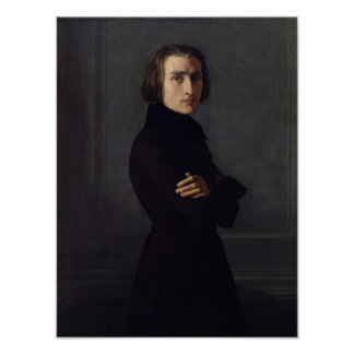 Portrait of Franz Liszt  1839 Poster
