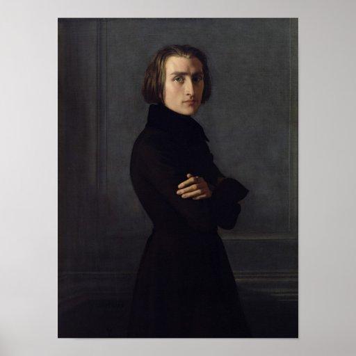 Portrait of Franz Liszt  1839 Posters