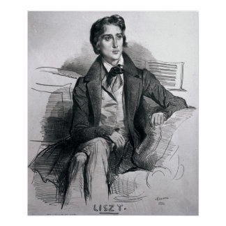 Portrait of Franz Liszt  August 1832 Poster