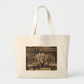Portrait of Freemasons of the Anglo-Saxon Lodge Large Tote Bag