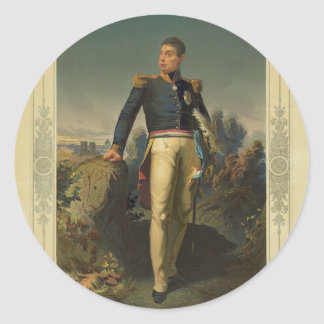 Portrait of French General Marquis de Lafayette Round Sticker