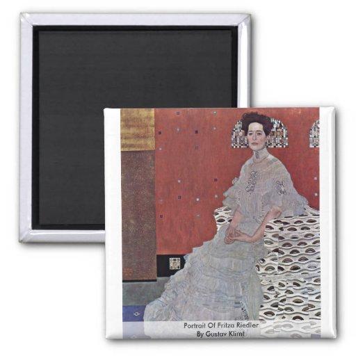 Portrait Of Fritza Riedler By Gustav Klimt Refrigerator Magnet