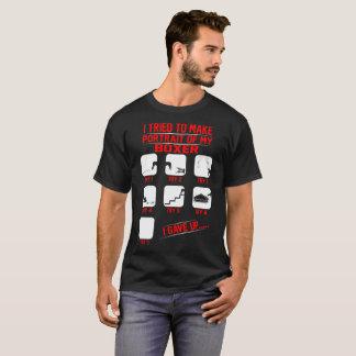 Portrait Of Funny Mischievous Boxer Dog Tshirt