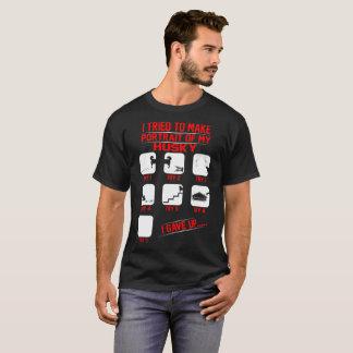 Portrait Of Funny Mischievous Husky Dog Tshirt
