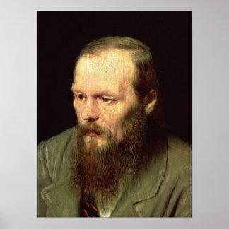 Portrait of Fyodor Dostoyevsky  1872 Poster
