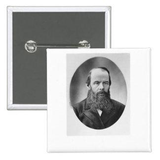 Portrait of Fyodor Mikhailovich Dostoyevsky 2 Inch Square Button