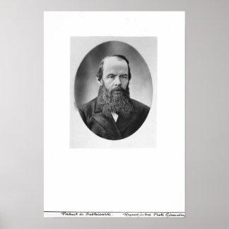 Portrait of Fyodor Mikhailovich Dostoyevsky Poster