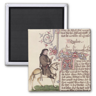 Portrait of Geoffrey Chaucer  facsimile from Square Magnet