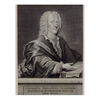 Portrait of Georg Philipp Telemann Postcard