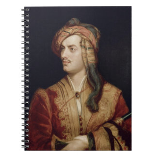 Portrait of George Gordon (1788-1824) 6th Baron By Notebook
