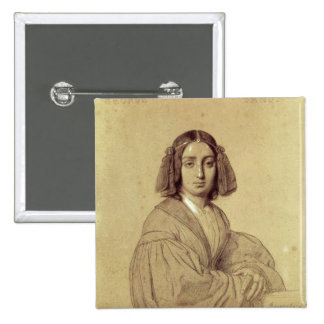 Portrait of George Sand  1837 2 Inch Square Button