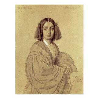 Portrait of George Sand  1837 Postcard
