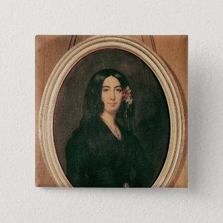 Portrait of George Sand 2 Inch Square Button