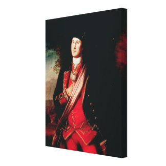 Portrait of George Washington  1772 Canvas Print
