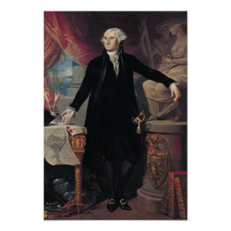 Portrait of George Washington, 1796 Poster