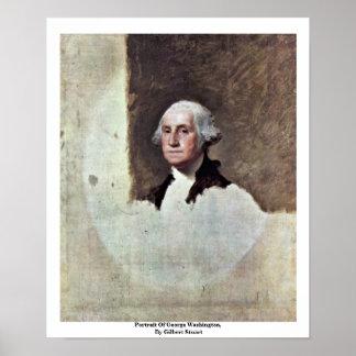 Portrait Of George Washington,  By Gilbert Stuart Poster