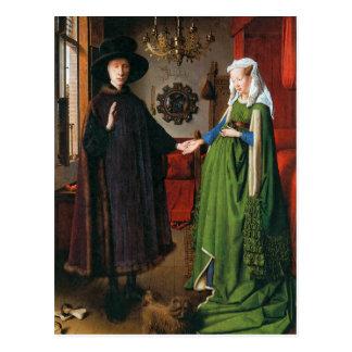 Portrait of Giovanni Arnolfini and His Wife Postcard