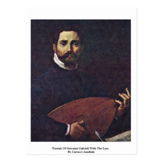 Portrait Of Giovanni Gabrieli With The Lute Postcard