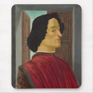 Portrait of Giuliano de Medici by Botticelli Mouse Pad