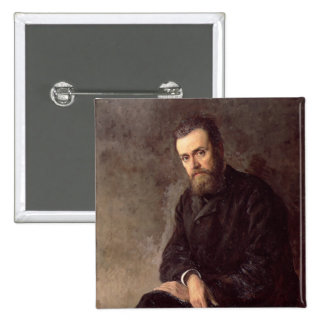Portrait of Gleb I. Uspensky  1884 2 Inch Square Button