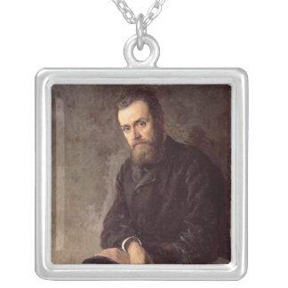 Portrait of Gleb I. Uspensky  1884 Silver Plated Necklace