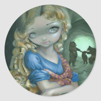 """Portrait of Goldilocks"" Stickers"