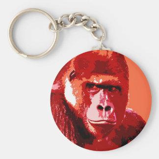 Portrait of Gorilla Keychain