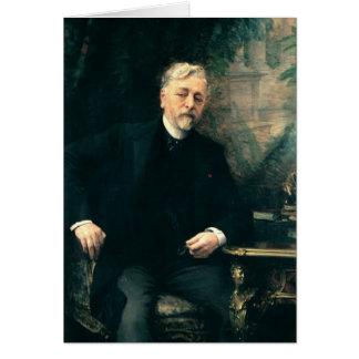 Portrait of Gustave Eiffel  1905 Card