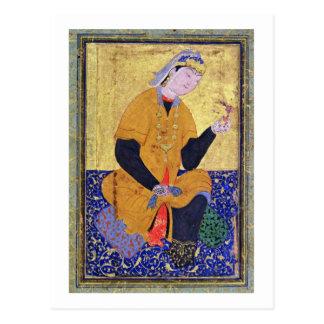 Portrait of Hamida Banu Begum, holding a seal, ill Postcard