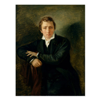 Portrait of Heinrich Heine  1831 Postcard