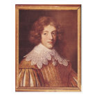 Portrait of Henri Coeffier de Ruze d'Effiat Postcard