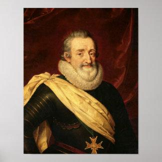 Portrait of Henri IV  King of France Poster
