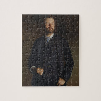 Portrait of Henry Cabot Lodge by JS Sargent Jigsaw Puzzle