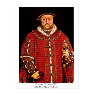 Portrait Of Henry Viii By After Hans Holbein -3 Postcard