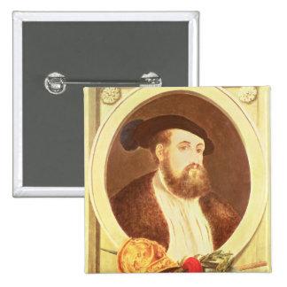 Portrait of Hernan Cortes Pinback Button