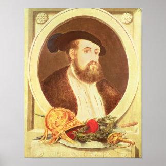 Portrait of Hernan Cortes Poster