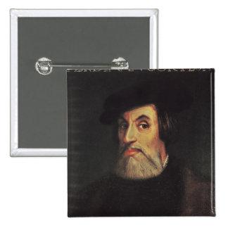 Portrait of Hernando Cortes Pinback Buttons