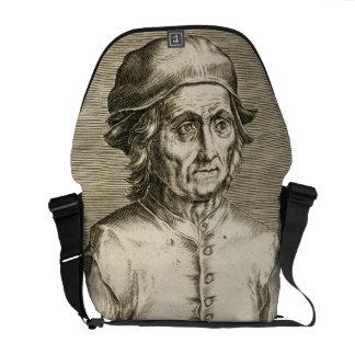 Portrait of Hieronymus Bosch (c.1450-1516) plate 3 Messenger Bag