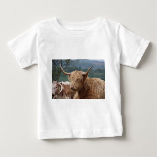 portrait of Highland Cattle Baby T-Shirt