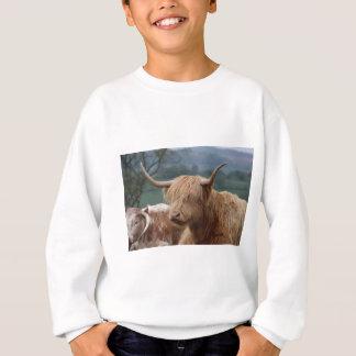 portrait of Highland Cattle Sweatshirt