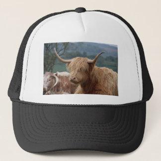 portrait of Highland Cattle Trucker Hat