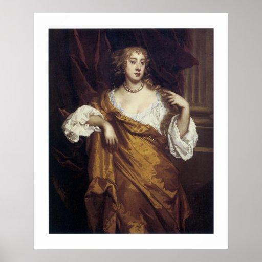 Portrait of Hon. Mary Wharton Poster