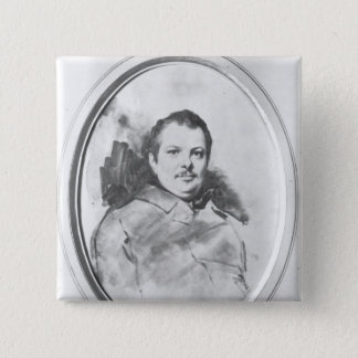 Portrait of Honore de Balzac  c.1820 2 Inch Square Button
