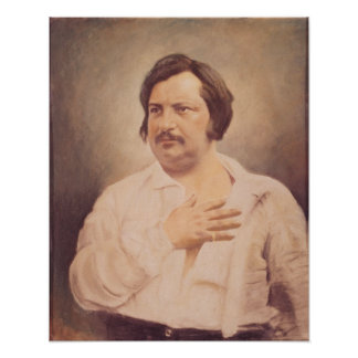 Portrait of Honore de Balzac Poster